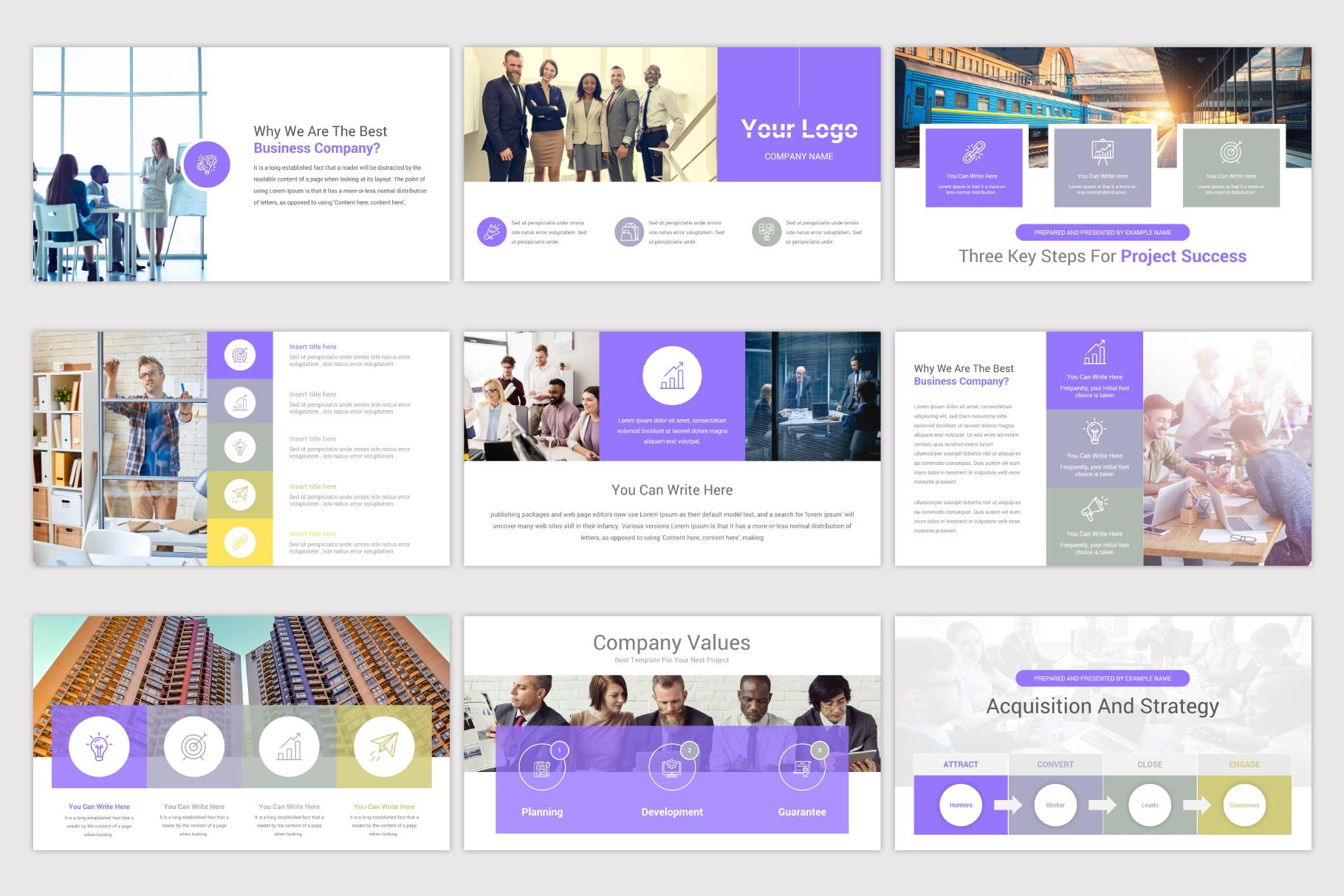 Company Profile Keynote Template example image 7