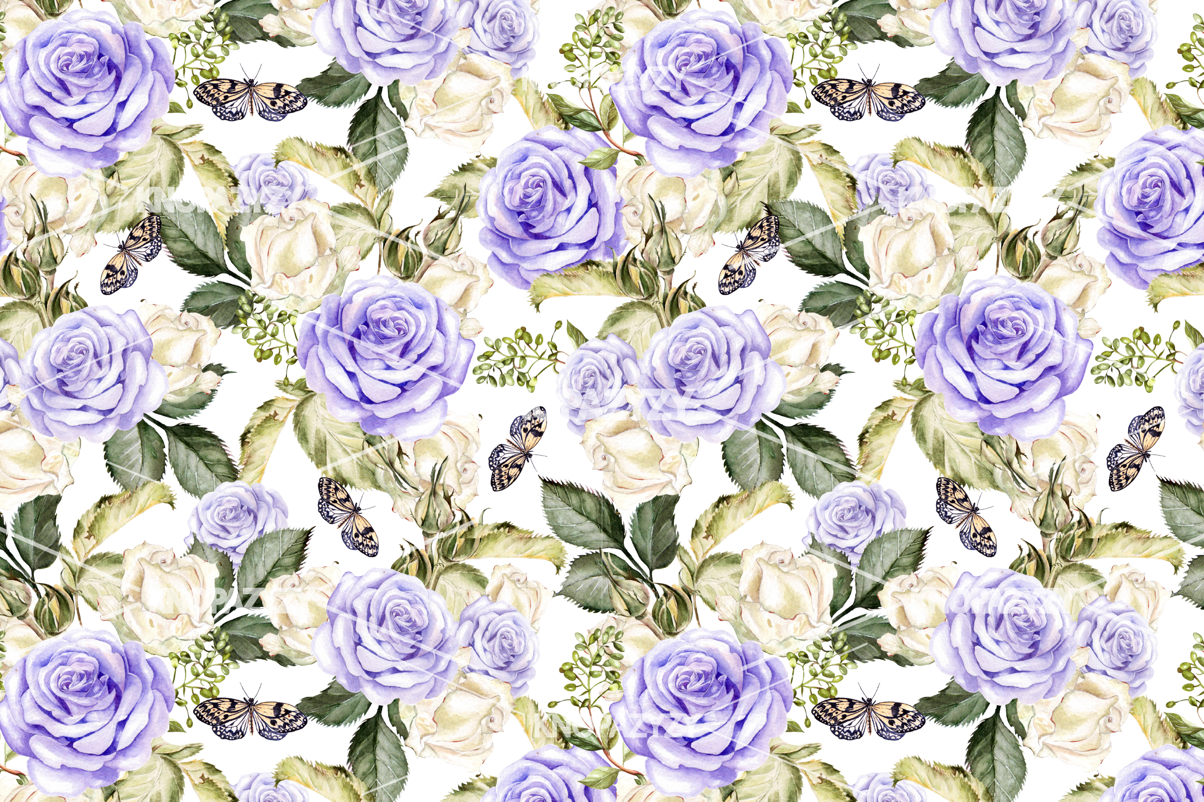 14 Hand drawn watercolor patterns example image 8