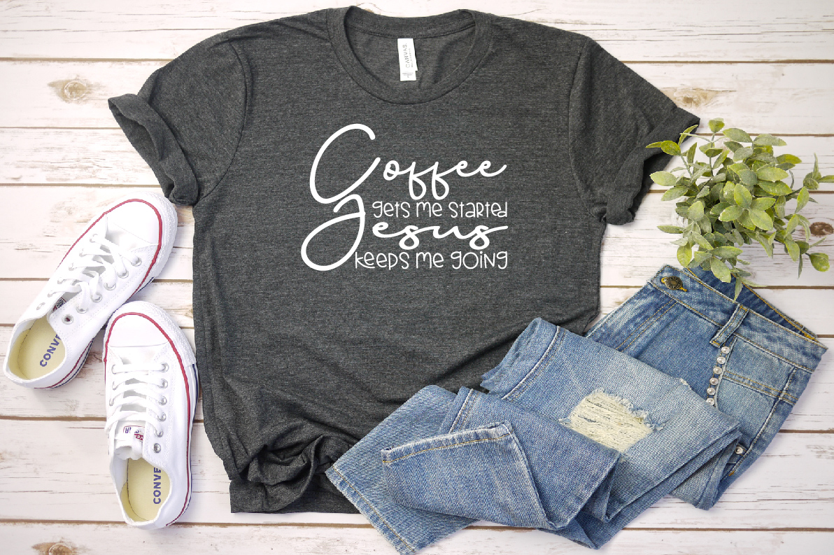 Coffee get me started Jesus keeps me going,SVG/DXF/PNG, 701s example image 2