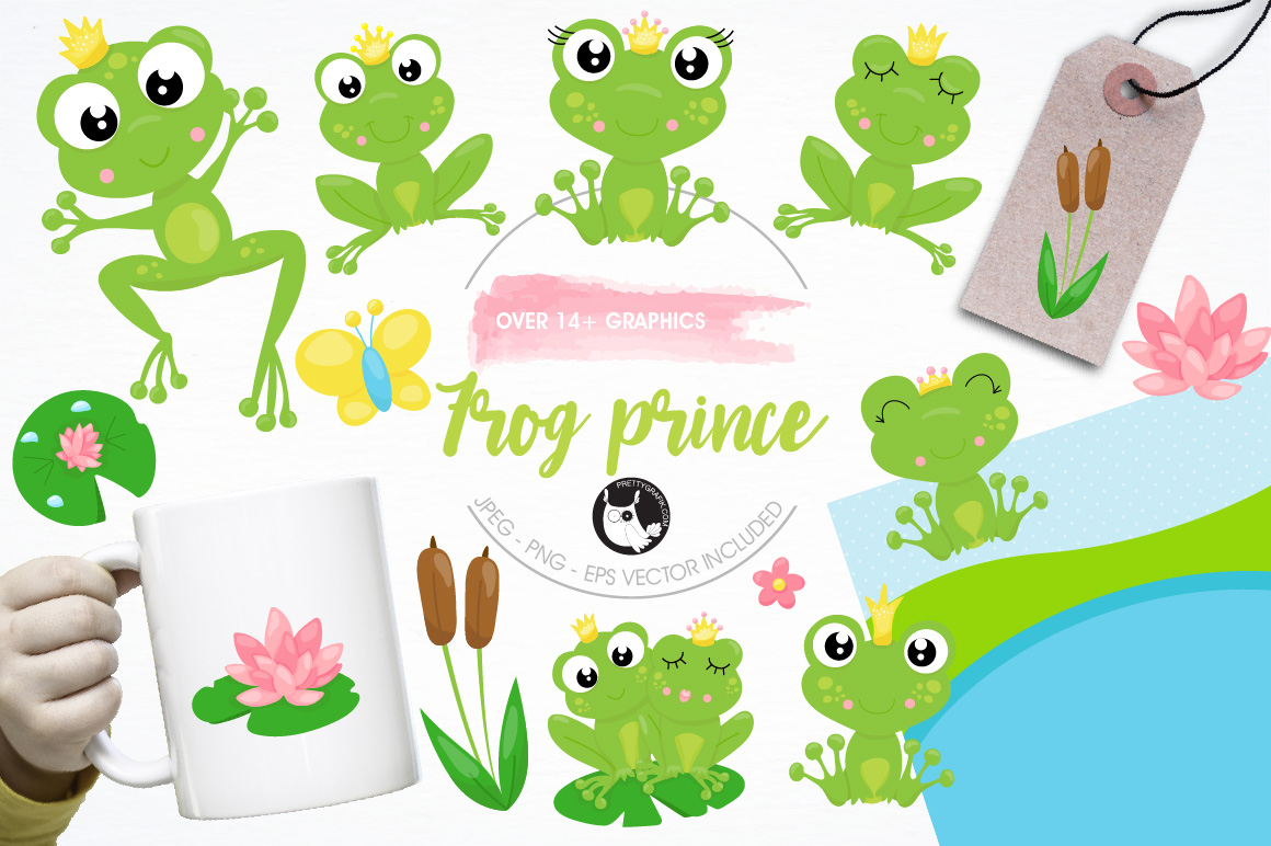 Frog prince graphics and illustrations example image 1