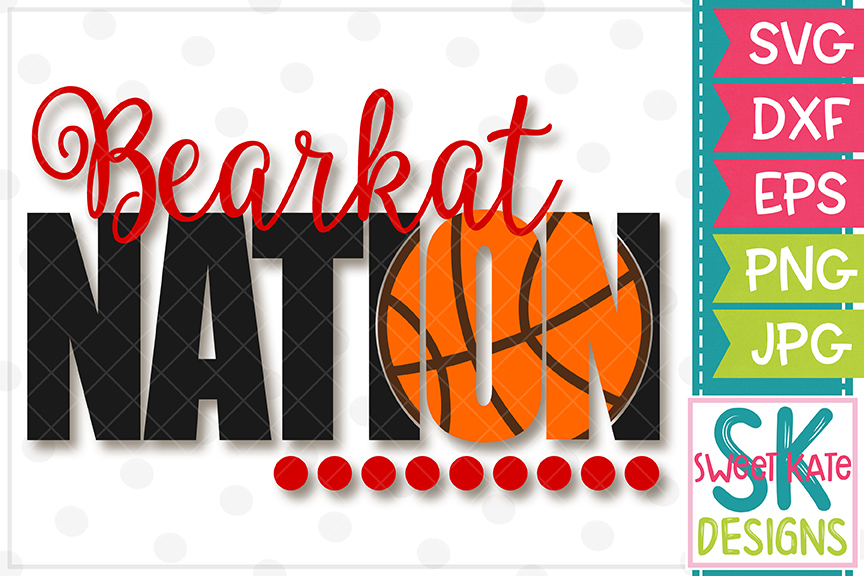 Bearkat Nation with Knockout Basketball SVG DXF EPS PNG JPG example image 2