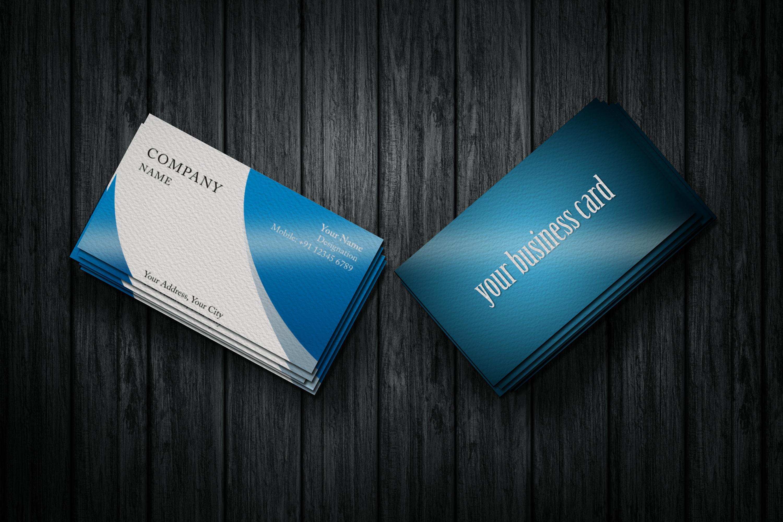 Photorealistic business card mockup set example image 3