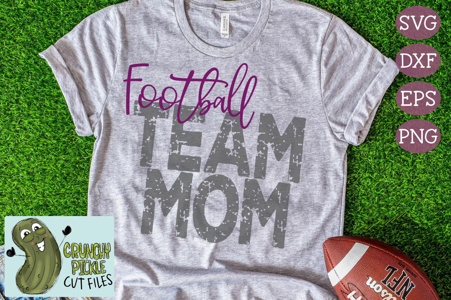 Football Mom & Bonus Team Mom Sports SVG Cut File example image 3