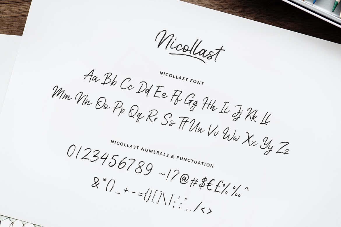 Nicollast Handwritten Brush Font example image 9