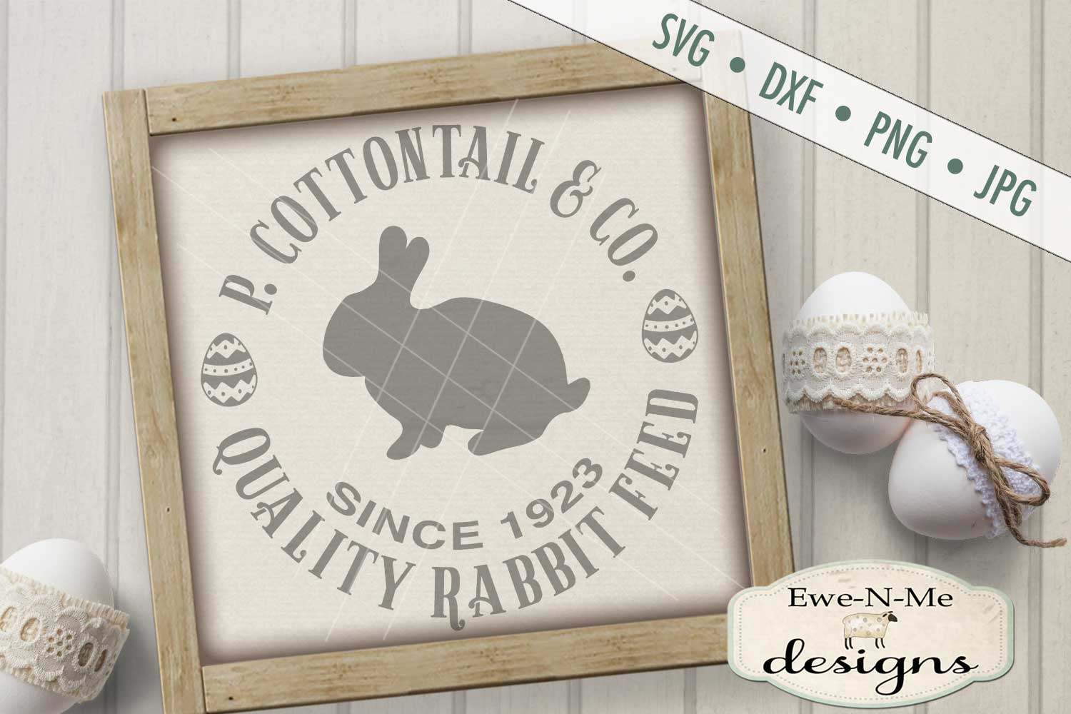 Easter Cottontail Bundle Easter Bunny Rabbit SVG DXF Files example image 3