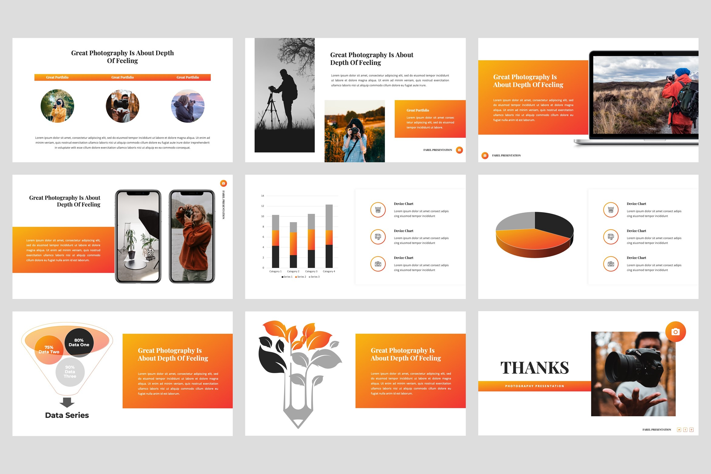 Farel - Photography PowerPoint Template example image 5