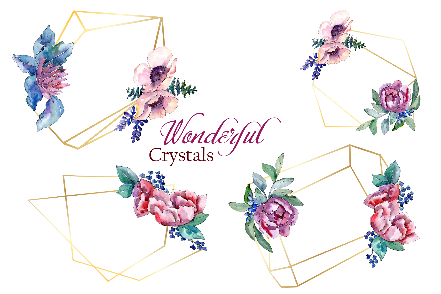 Bouquets with peonies Phuket Watercolor png example image 6