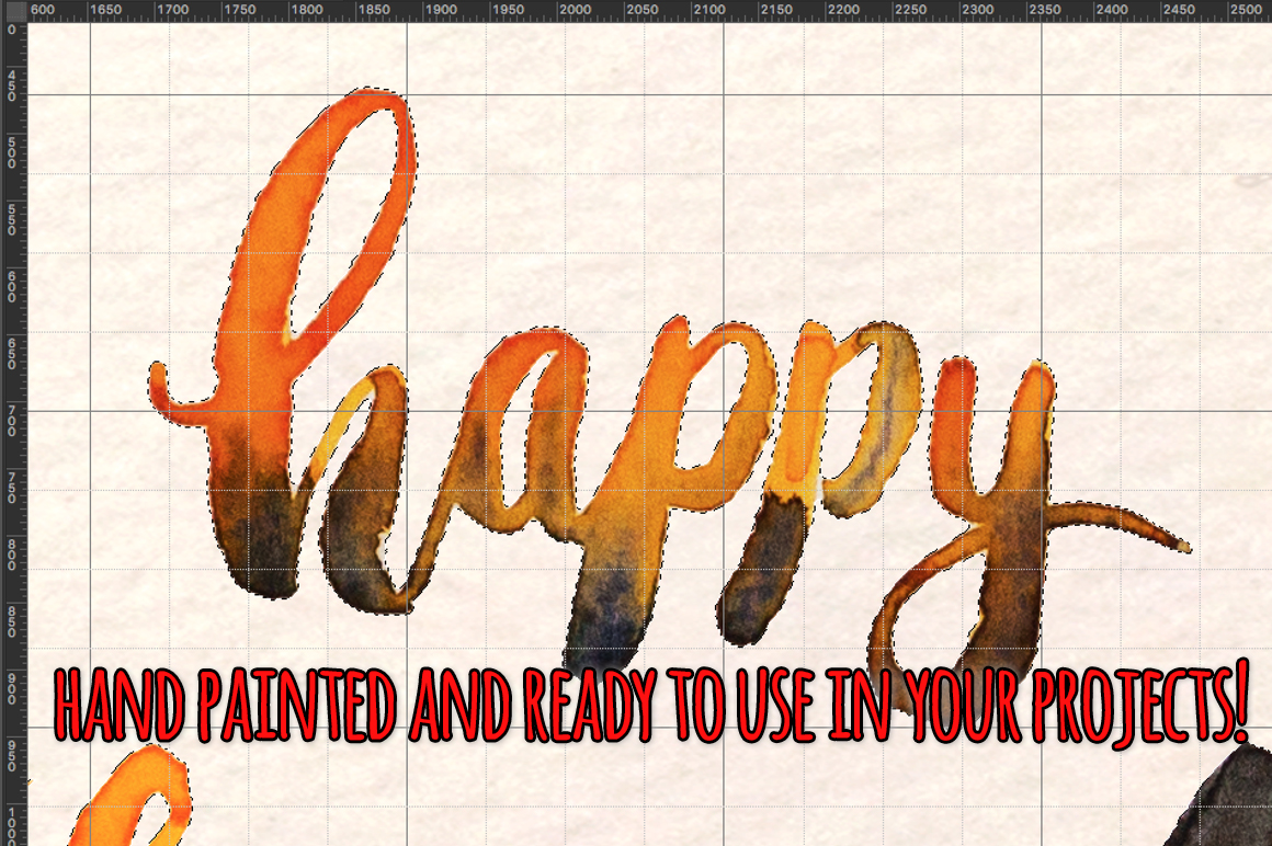 Happy Halloween 42 Cute Spooky Watercolor Elements example image 3