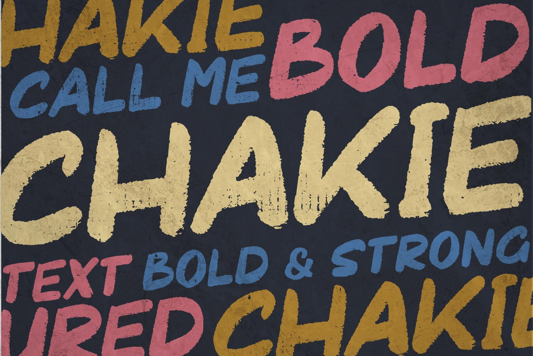 Chakie - Retro Brush Fonts example image 2