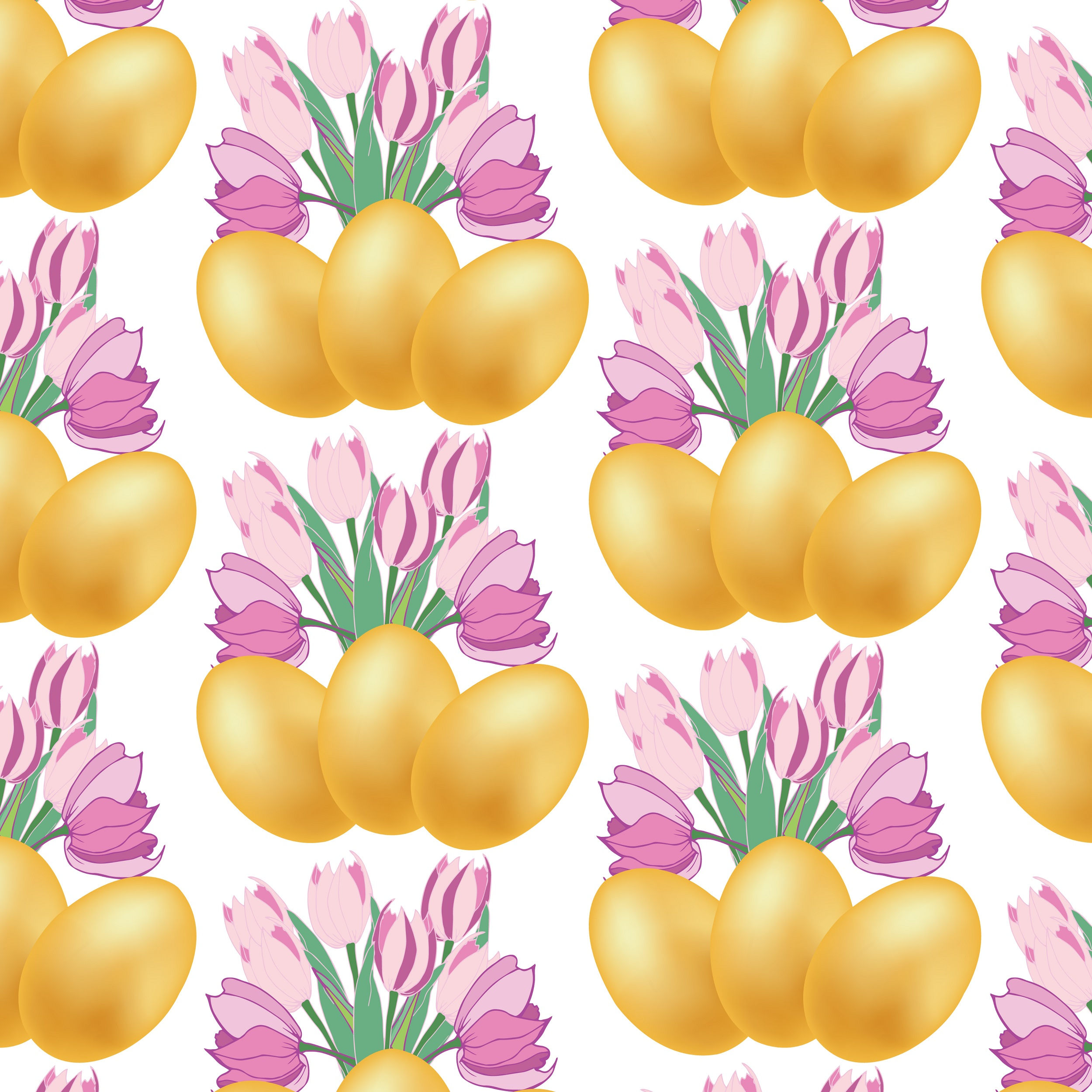 Easter pattern. Seamless pattern with Easter motifs. example image 4