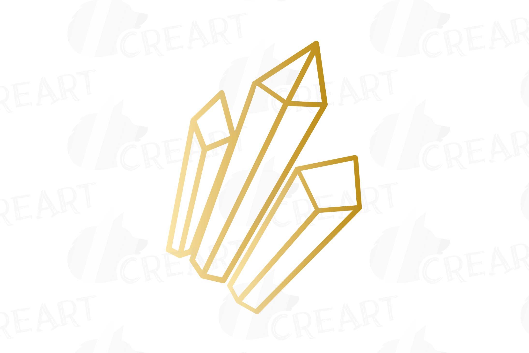 Elegant wedding geometric golden frames, lineal frames png example image 5
