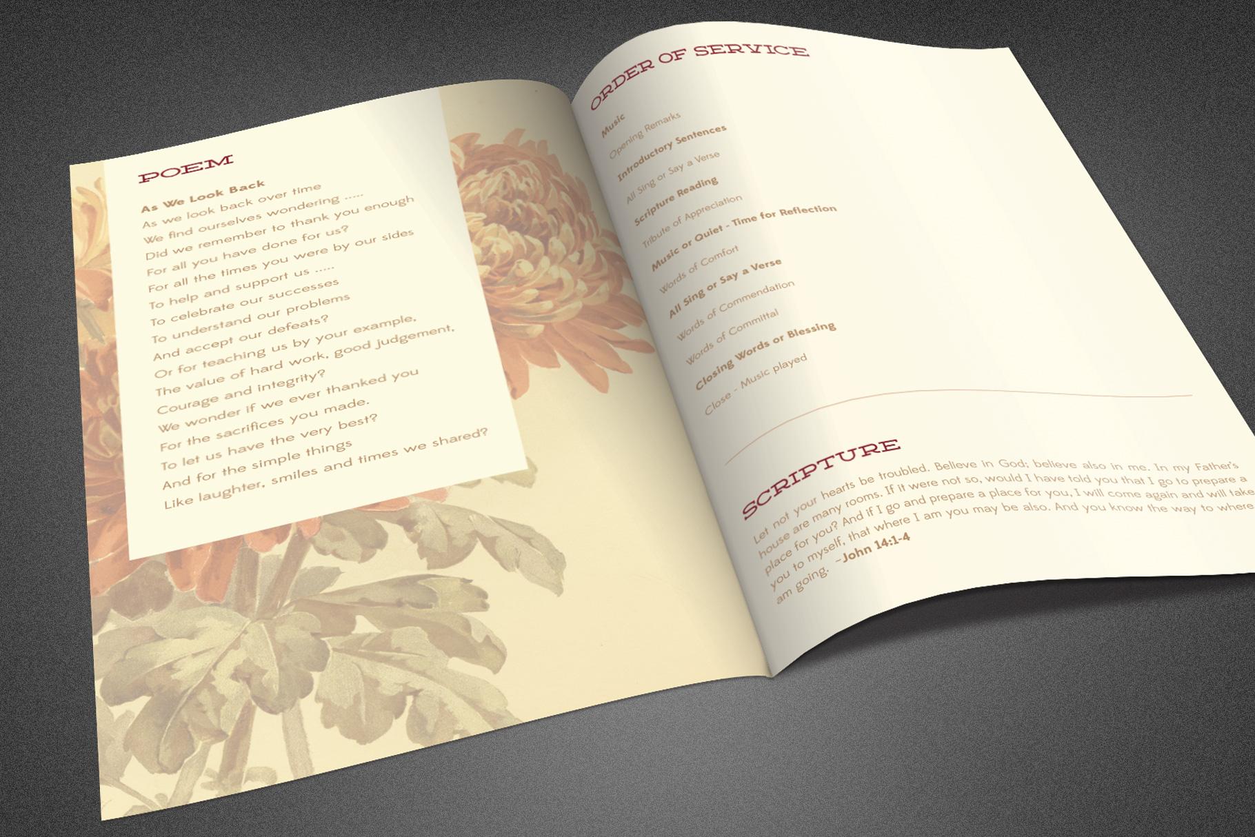 Burgundy Funeral Program Template example image 4