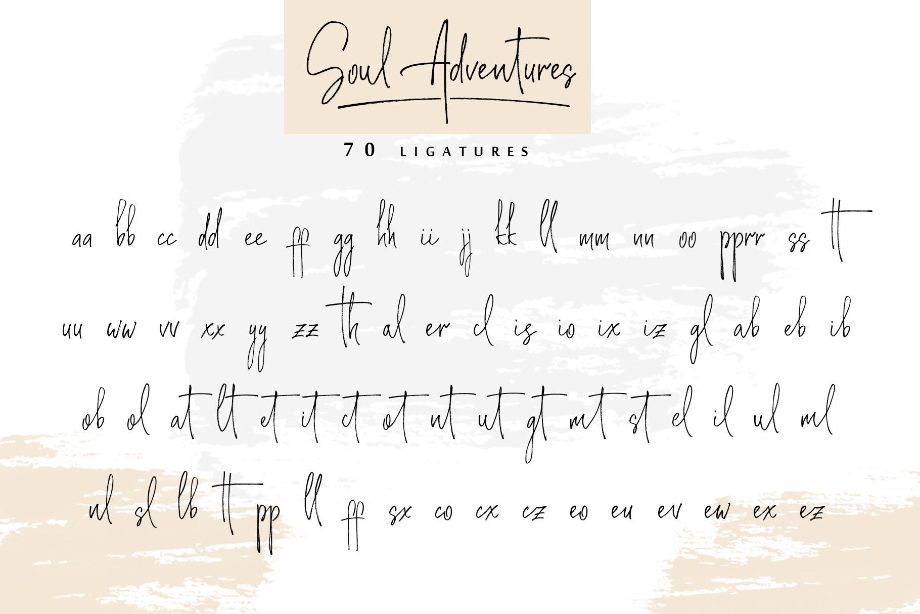 Soul Adventures script font + Extras example image 16