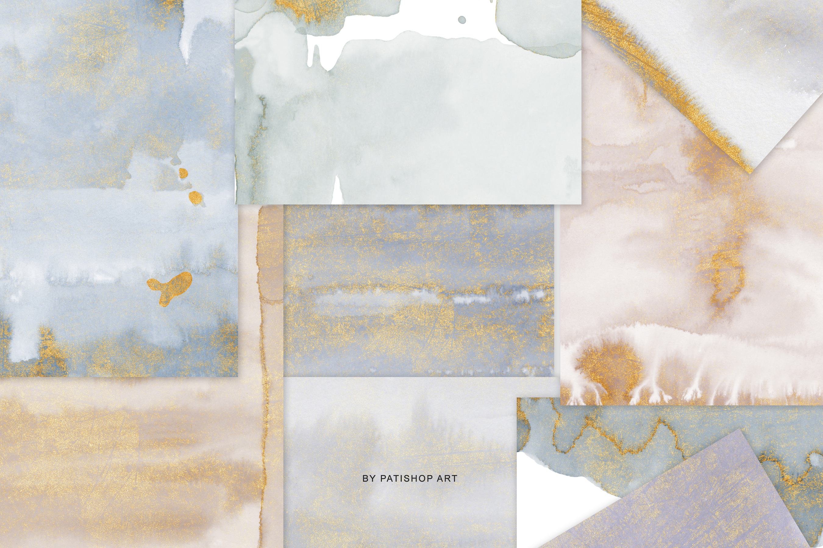 Watercolor Glittered Gray & Beige Background 5x7 example image 10