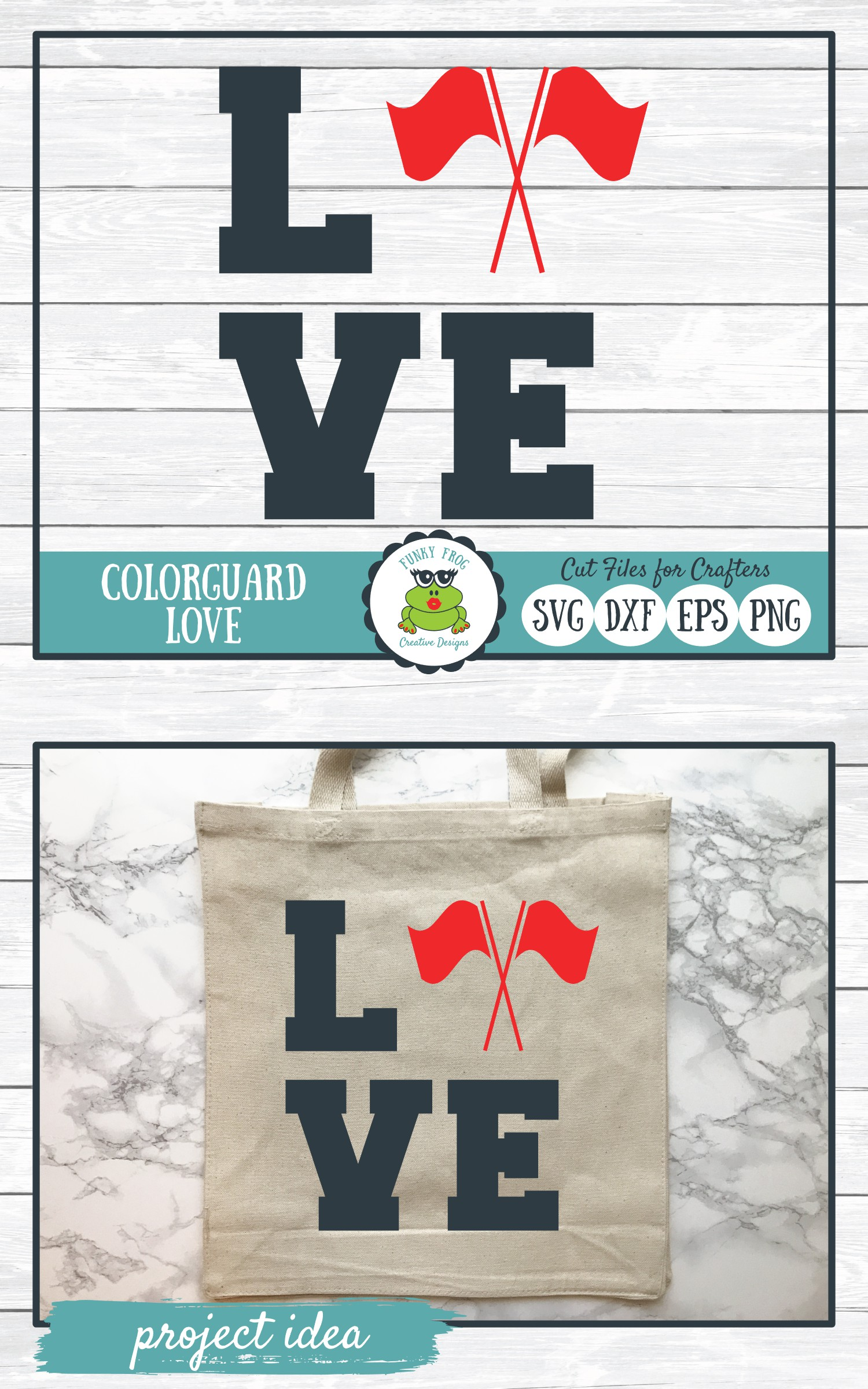 Color Guard Love, SVG Cut File for Crafters example image 4