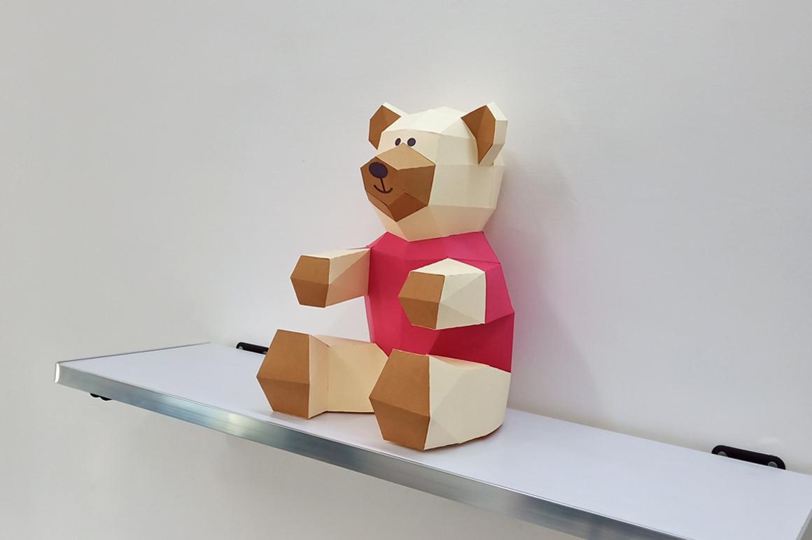 DIY Teddy bear,Papercraft Teddy bear,Paper Bear,Svg files example image 3
