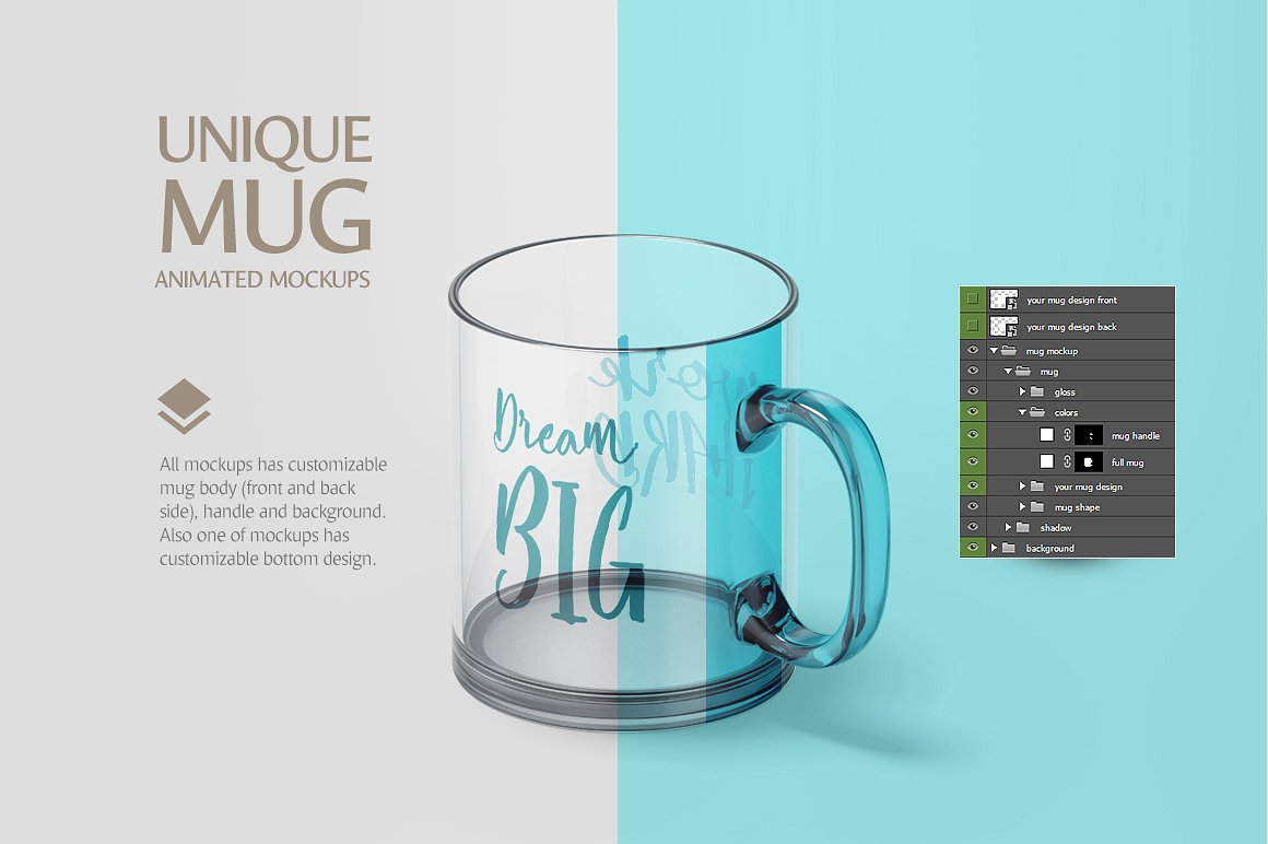 Glass Mug Animated Mockup example image 5