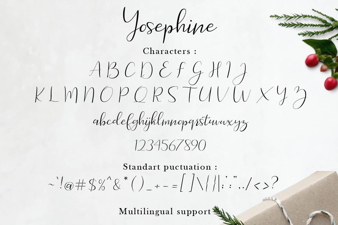 Yosephine Script example image 2