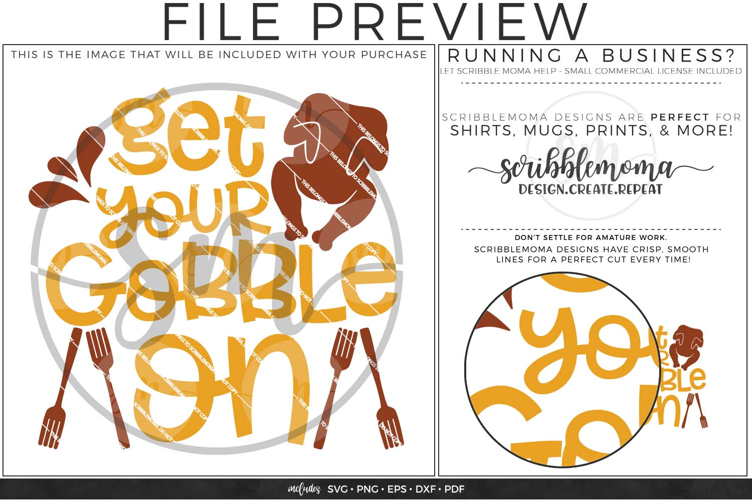 Get Your Gobble On SVG - Thanksgiving svg example image 2