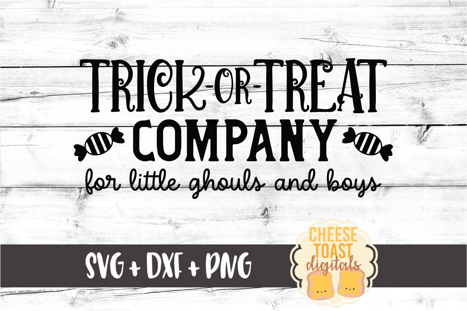 Trick Or Treat Company - Halloween Sign SVG PNG DXF Files example image 2
