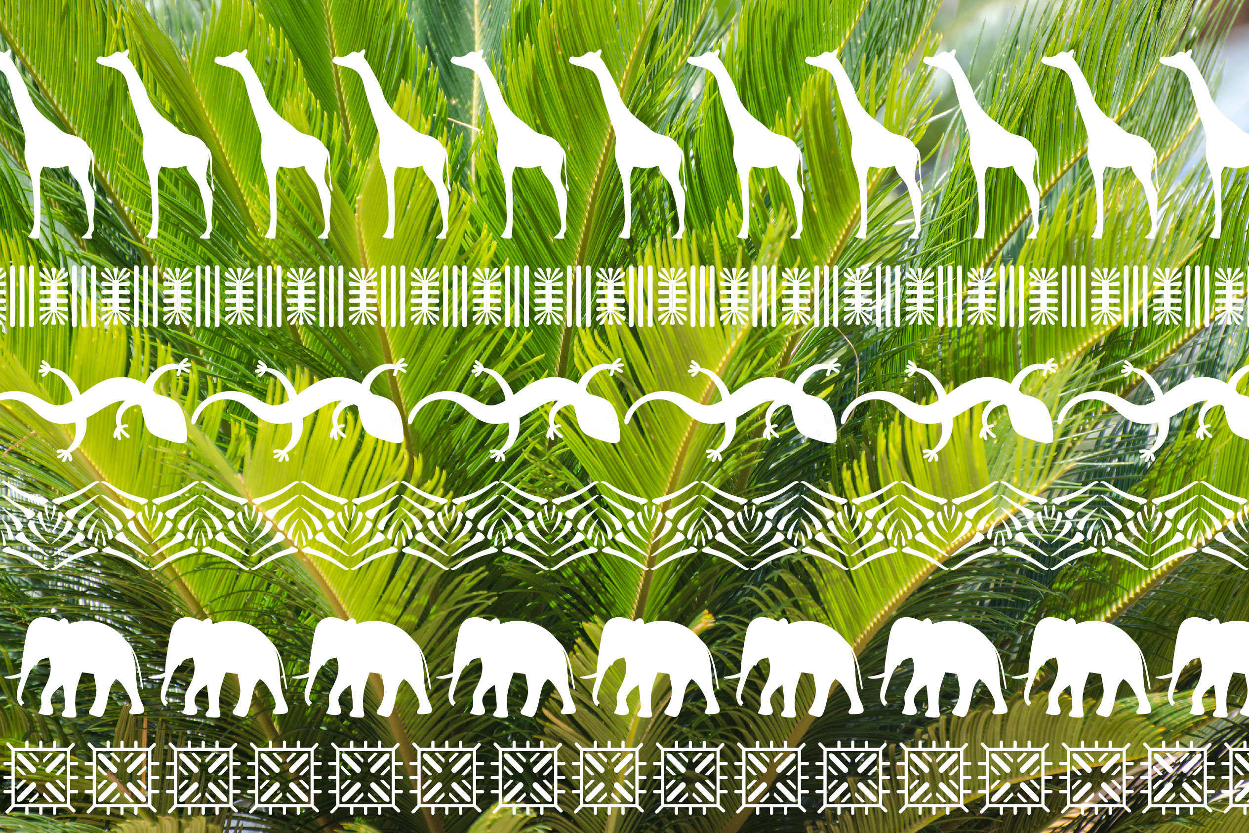 Africa Pattern Brushes for Illustrator example image 7