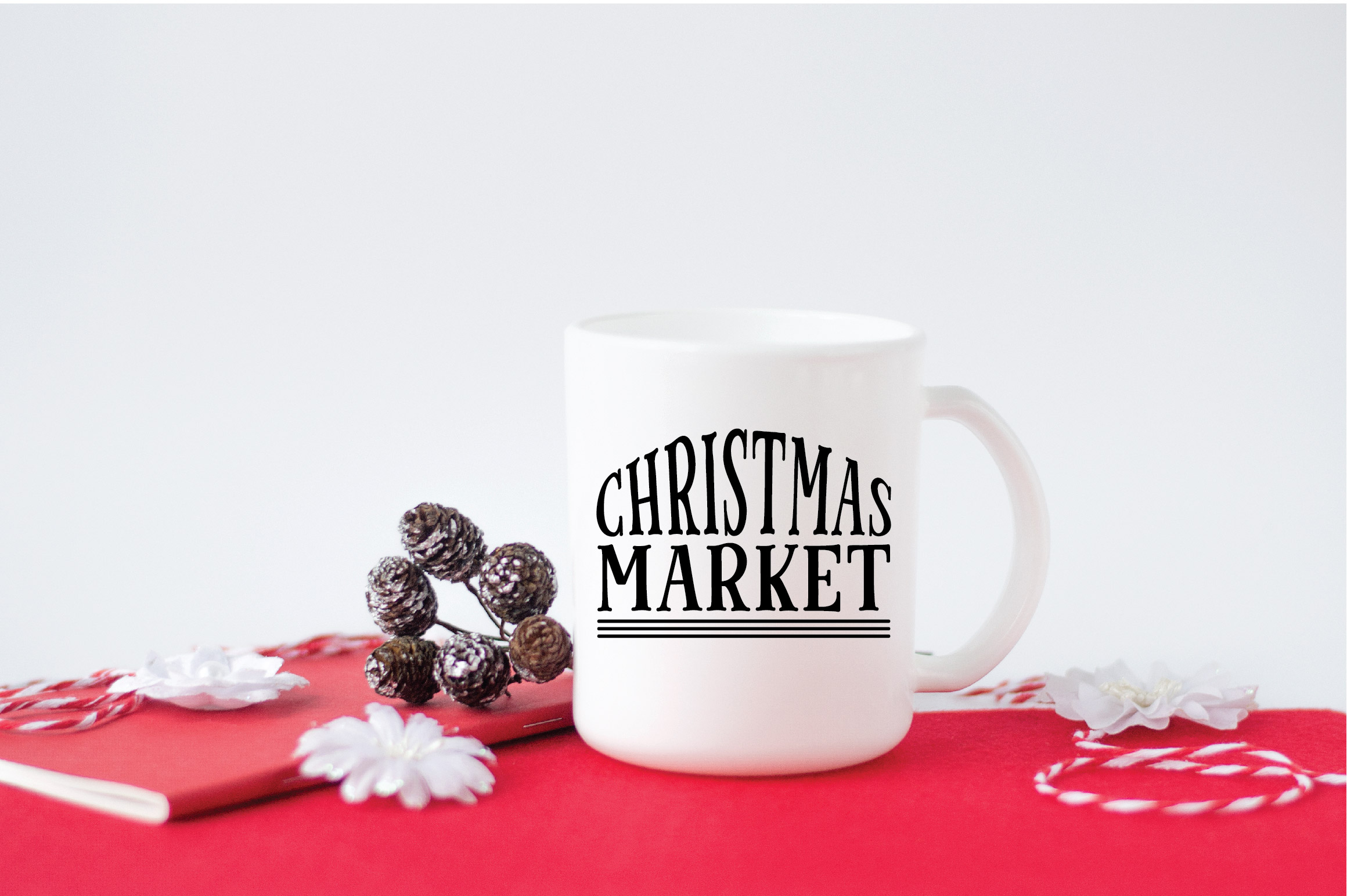 Christmas SVG Cut File - Christmas Market SVG DXF PNG EPS example image 5
