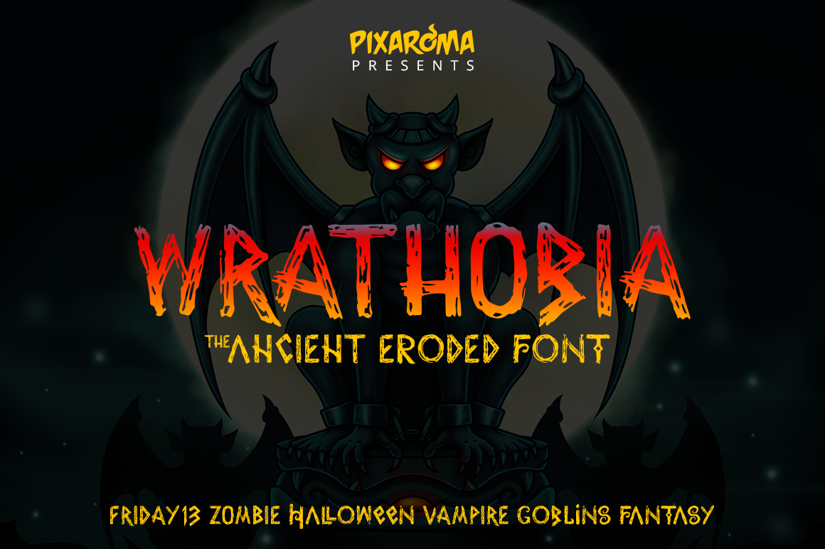 Wrathobia Display Font example image 1