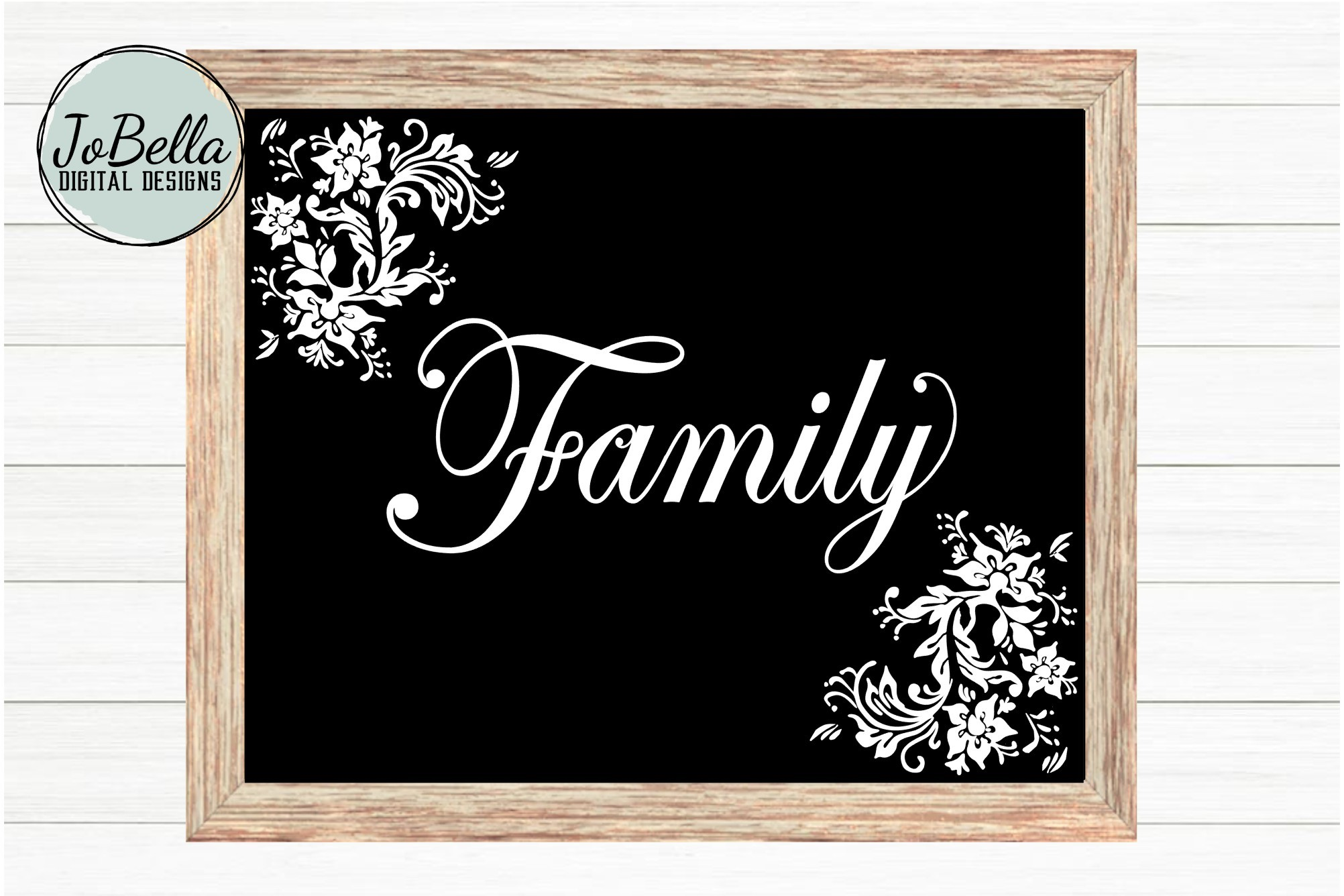 Family SVG and Printable - Floral Farmhouse Design example image 1
