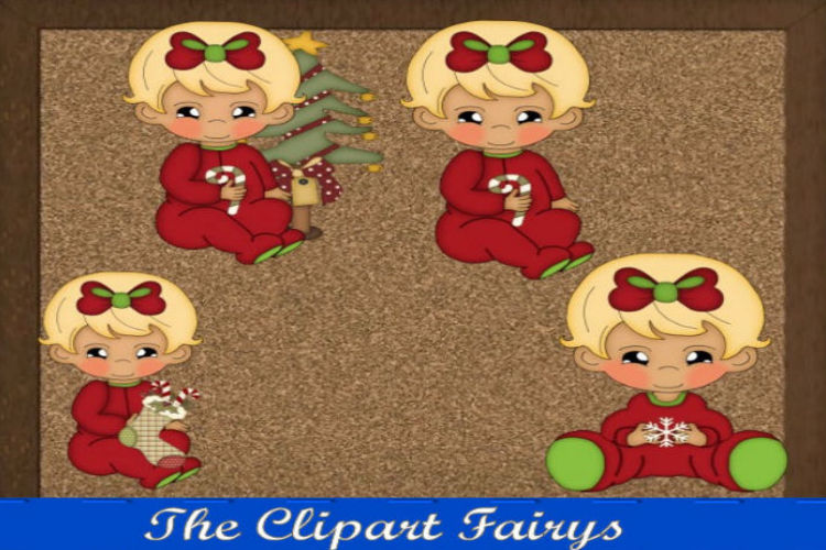 Blonde Baby Girl Christmas example image 1