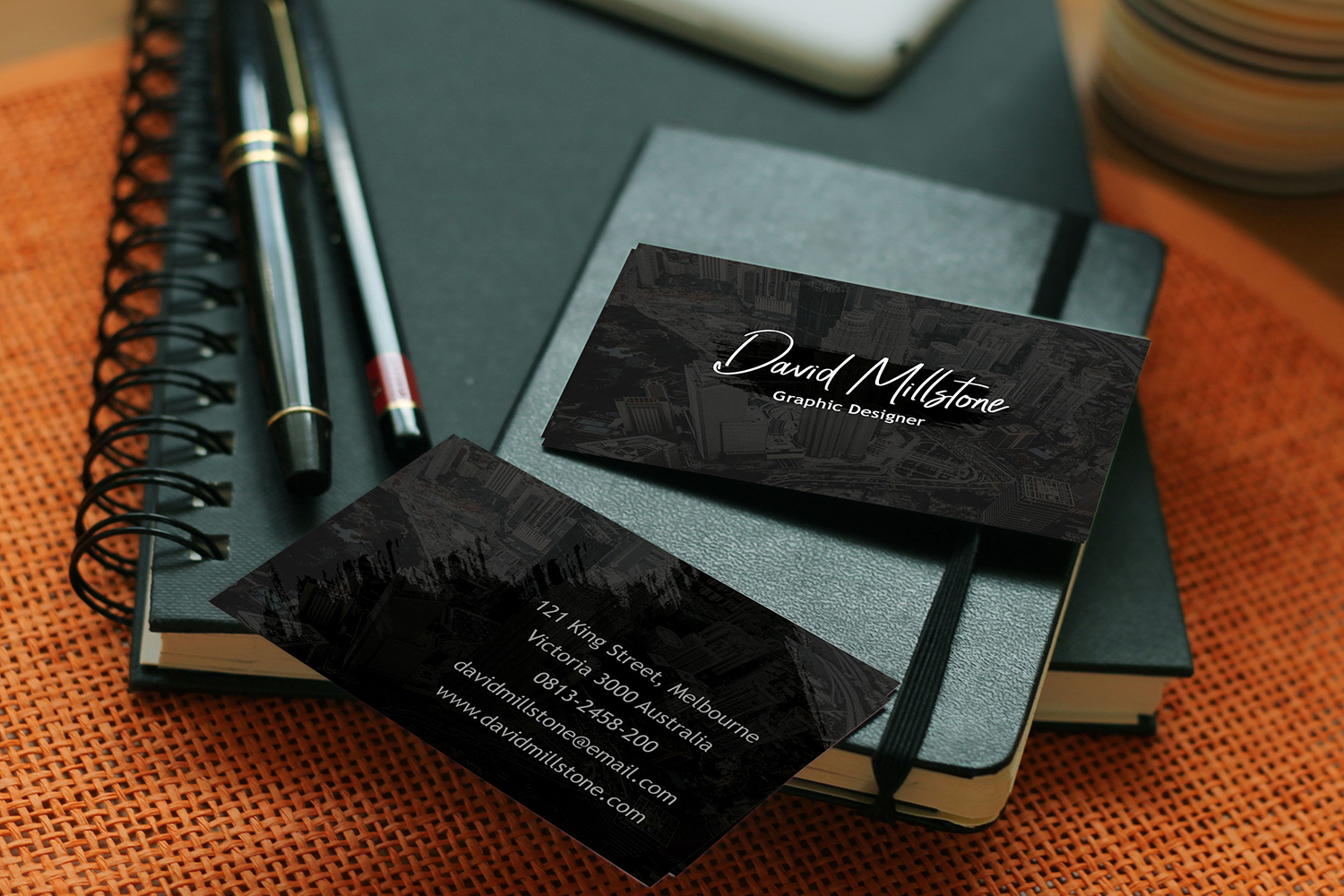 Creative business card template example image 4
