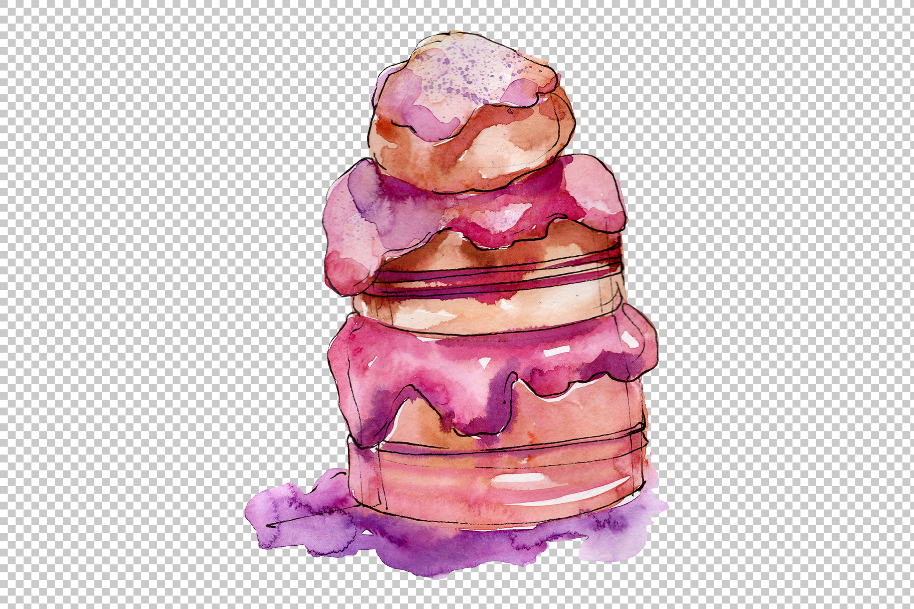 Dessert Appetizing Watercolor png example image 5
