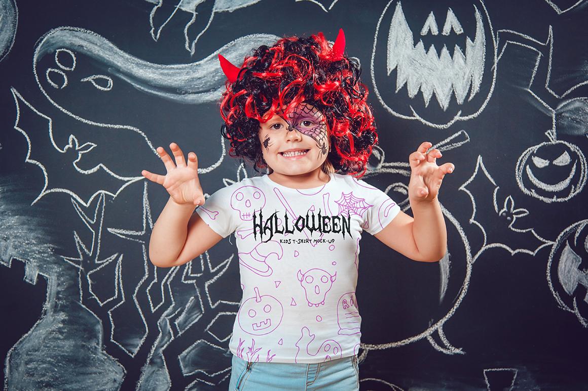 Halloween Kids T-Shirt Mock-Up example image 9