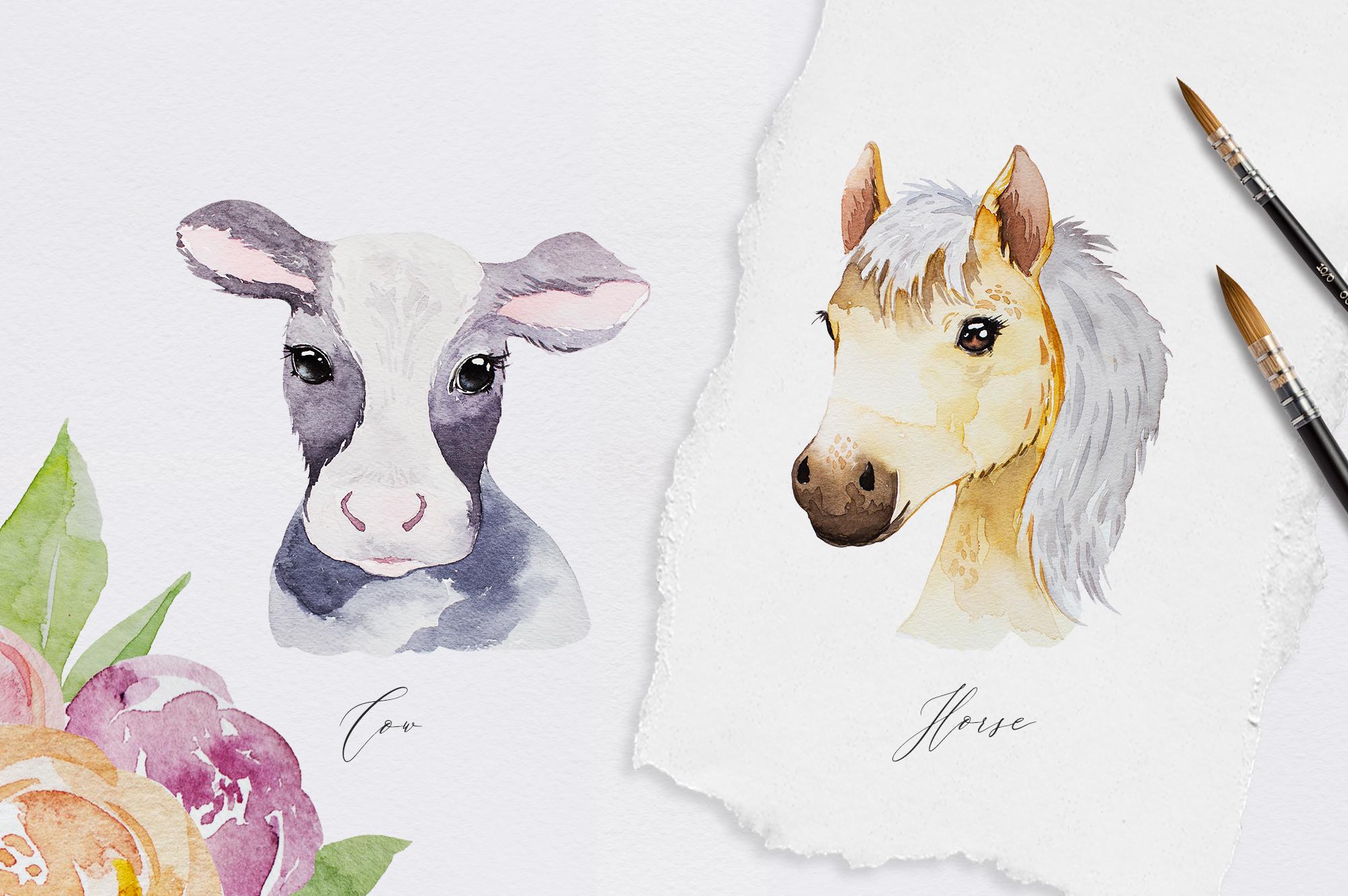 Cutest Farm Animals Set example image 3