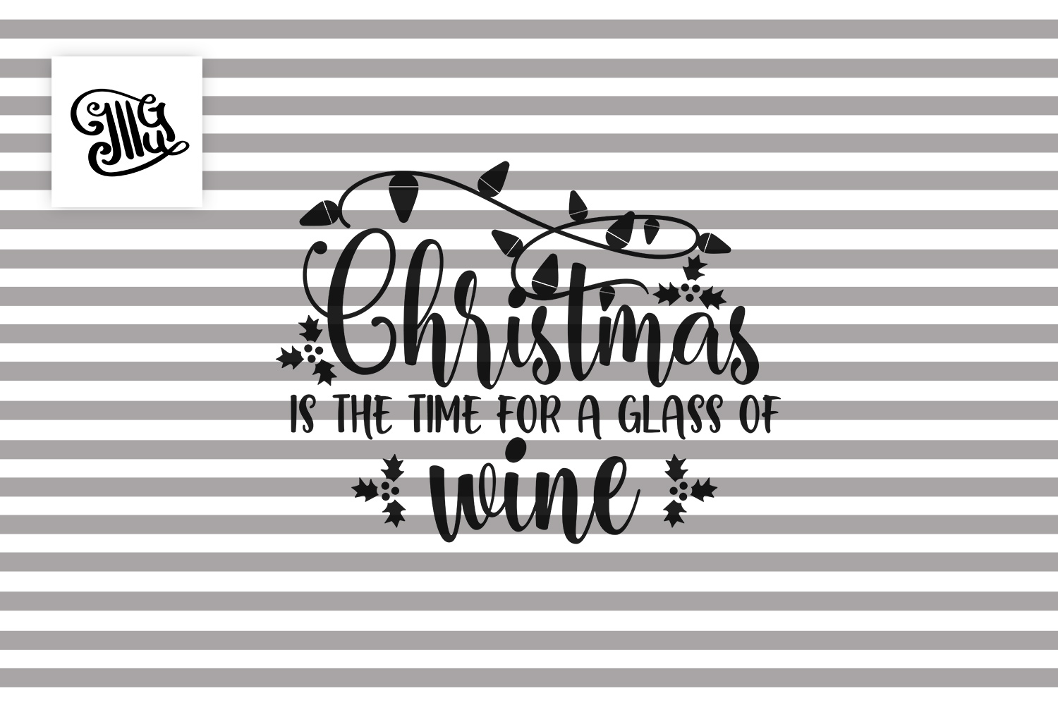 Christmas is the time for a glass of wine - Christmas wine example image 2