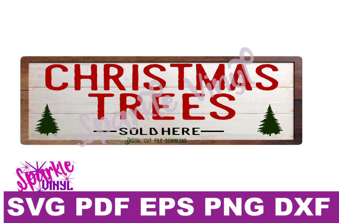 Svg Christmas Sign Stencil Bundle printable svg dxf png pdf esp files for cricut or silhouette Merry Christmas Trees Sold here Mistletoe svg example image 3