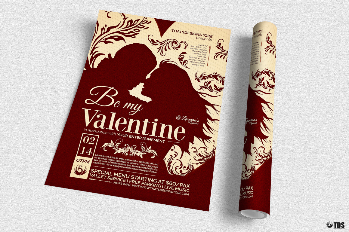 Valentines Day Flyer Template V6 example image 3