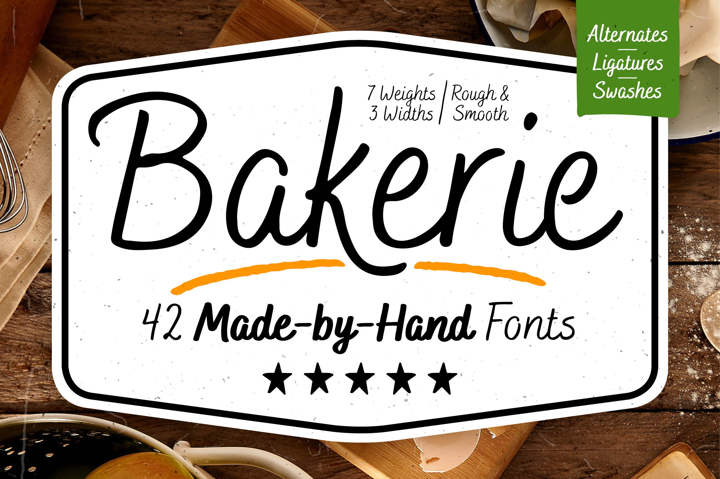 Bakerie Complete Font Family example image 1