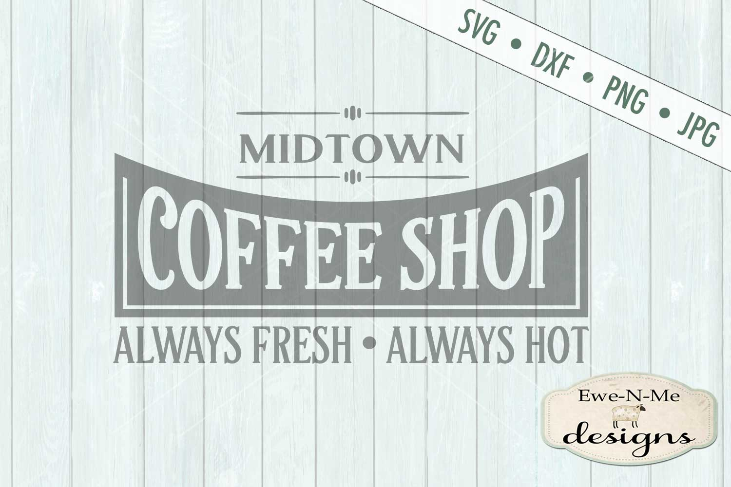 Coffee Shop Kitchen SVG DXF File example image 2