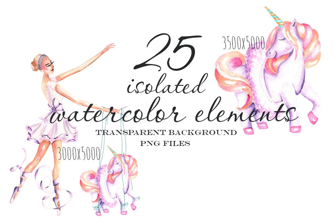 Ballet watercolor clip art example image 2