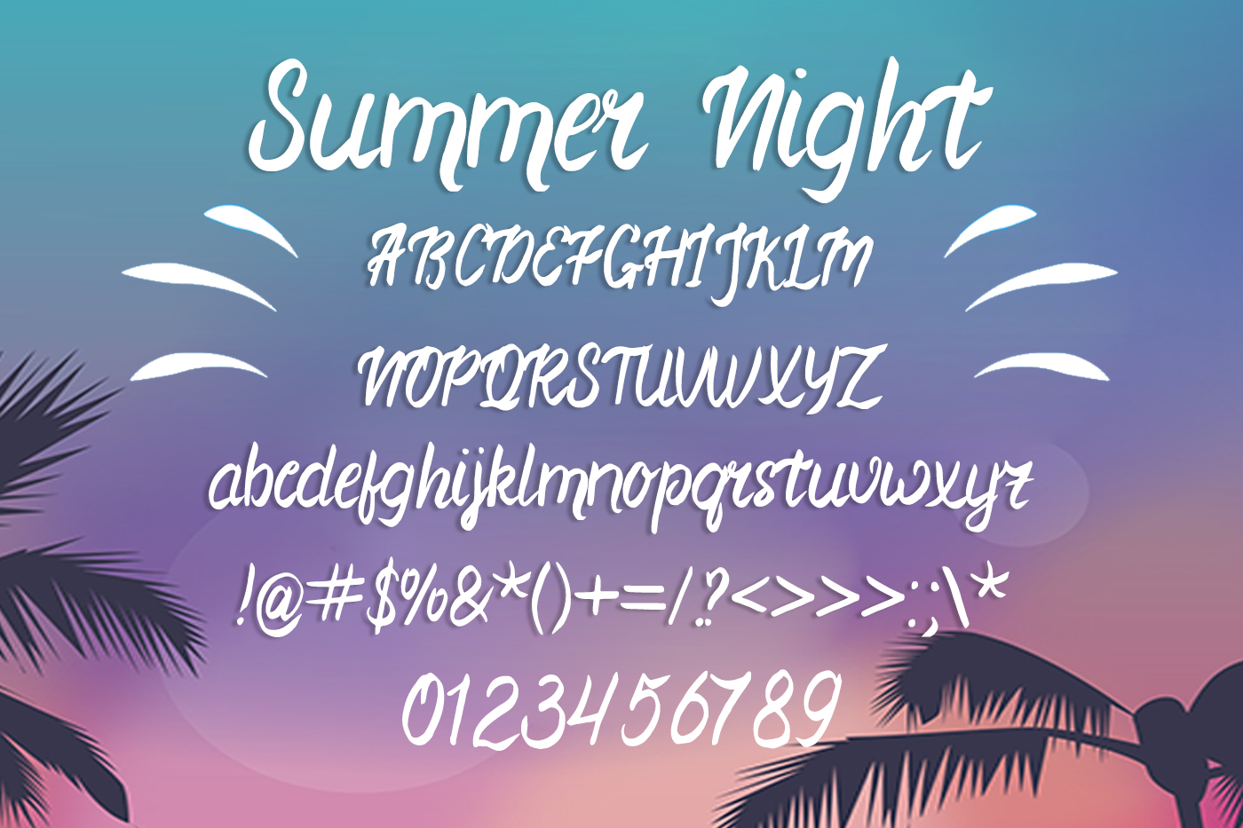 Summer Night Font example image 2