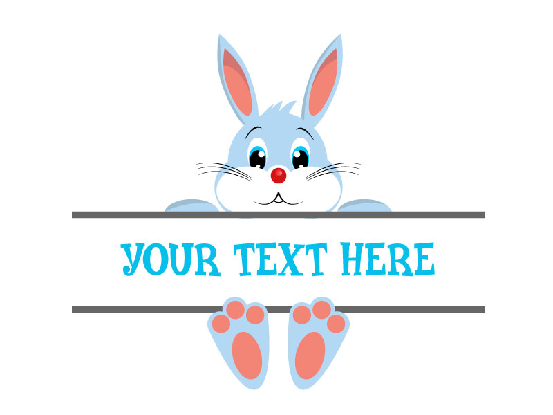 Easter Bunny Svg, Easter Monogram Svg,Easter Svg example image 2
