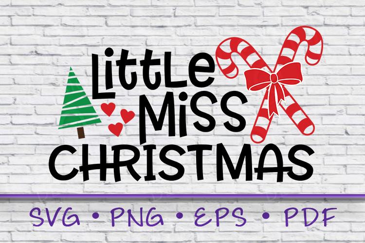 Little Miss Christmas, Christmas SVG, Miss Christmas SVG example image 1