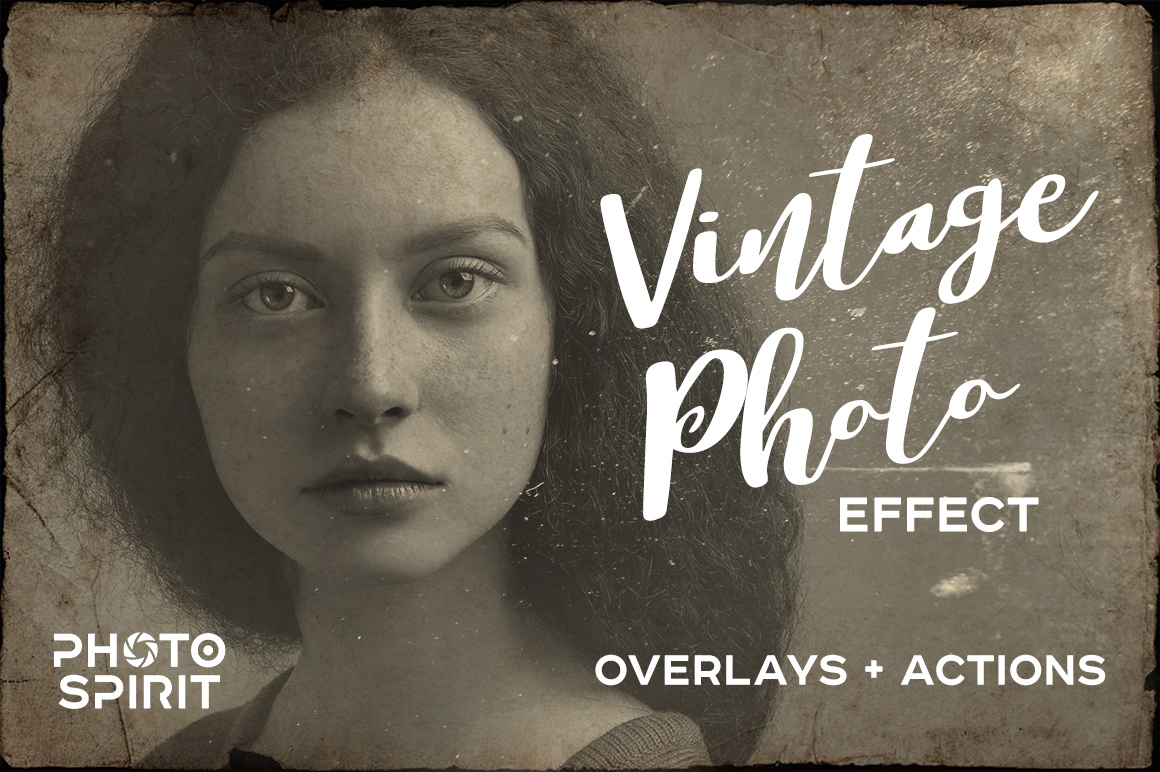Vintage Old Photo Effect Overlays example image 1