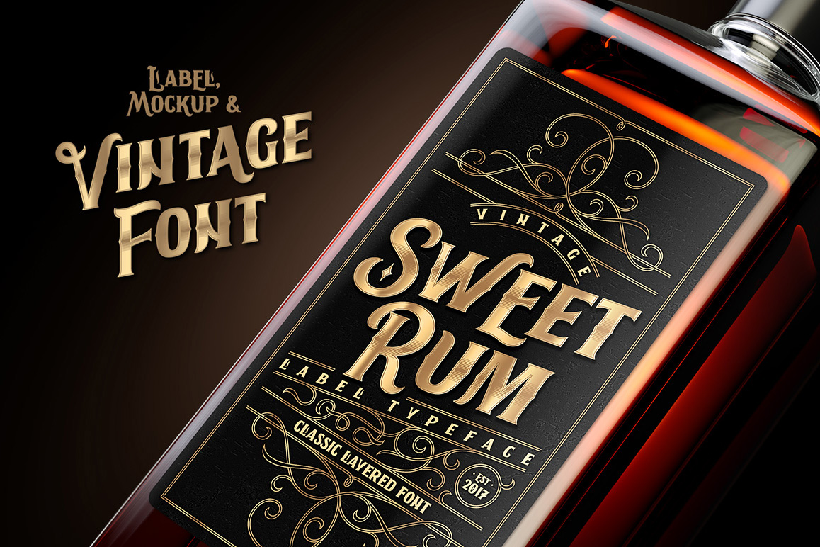 Sweet Rum Font, Label, Mockup example image 1