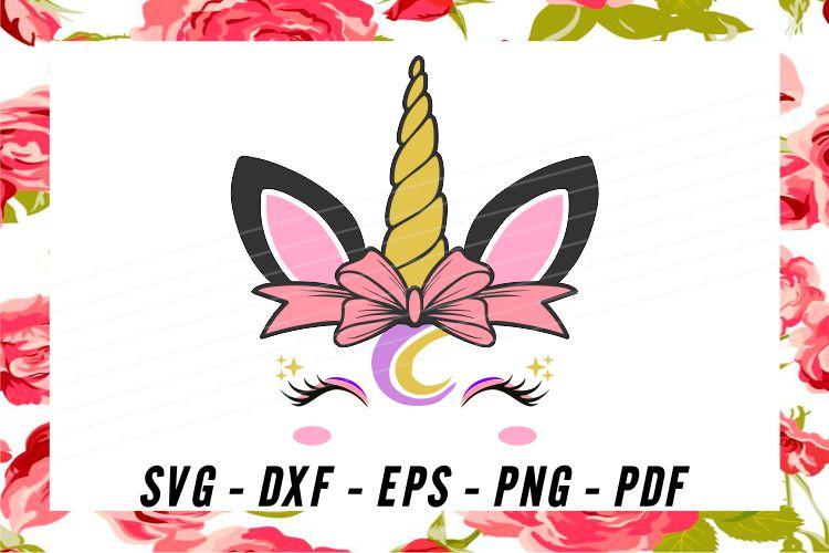 Unicorn svg, unicorn face svg, licorne, unicorn face clipart example image 3