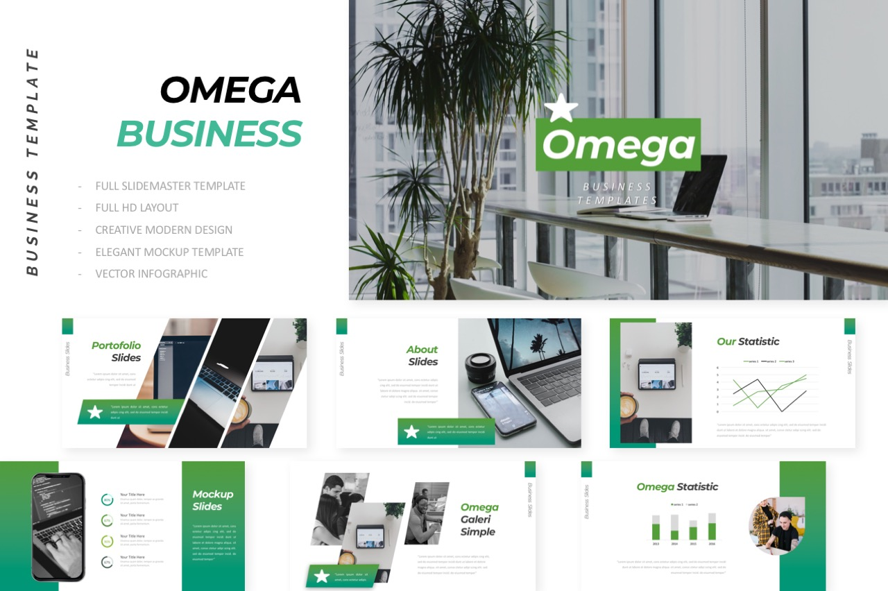 Omega Business Powerpoint example image 1