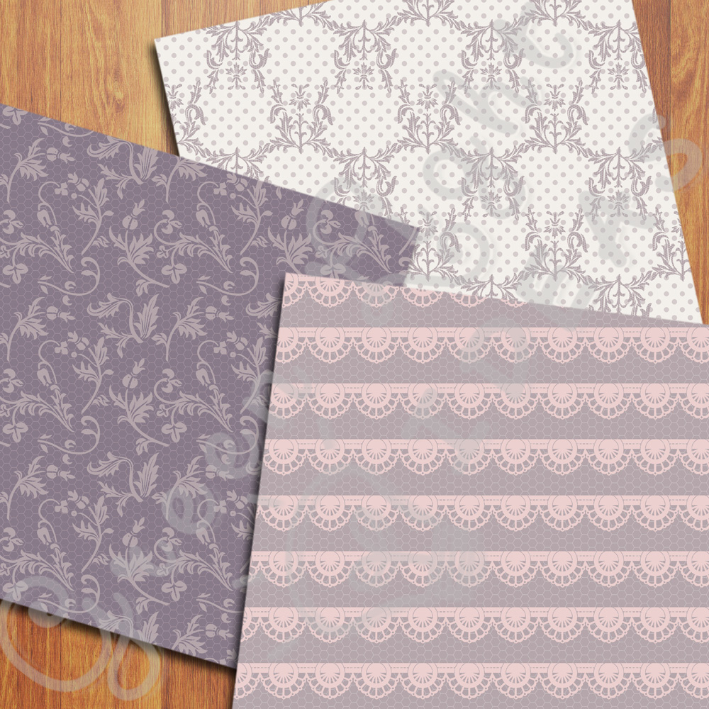 Wedding Lace Digital Papers example image 2