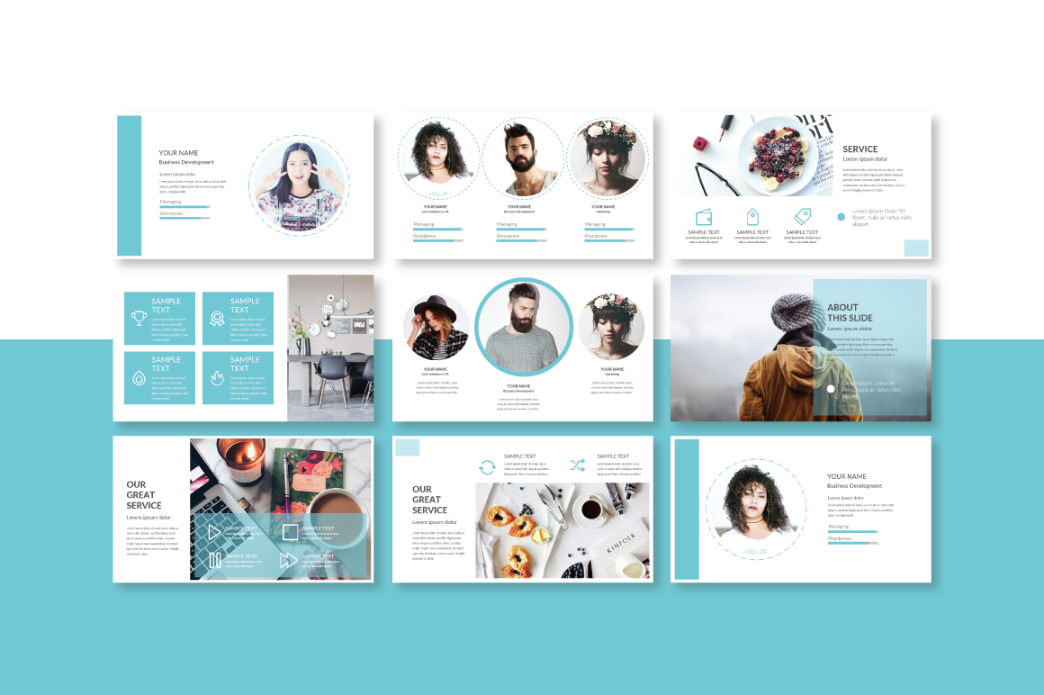 Trace Powerpoint Template example image 2