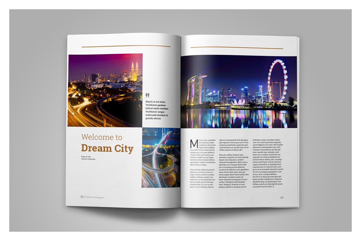 Indesign Magazine Template example image 14