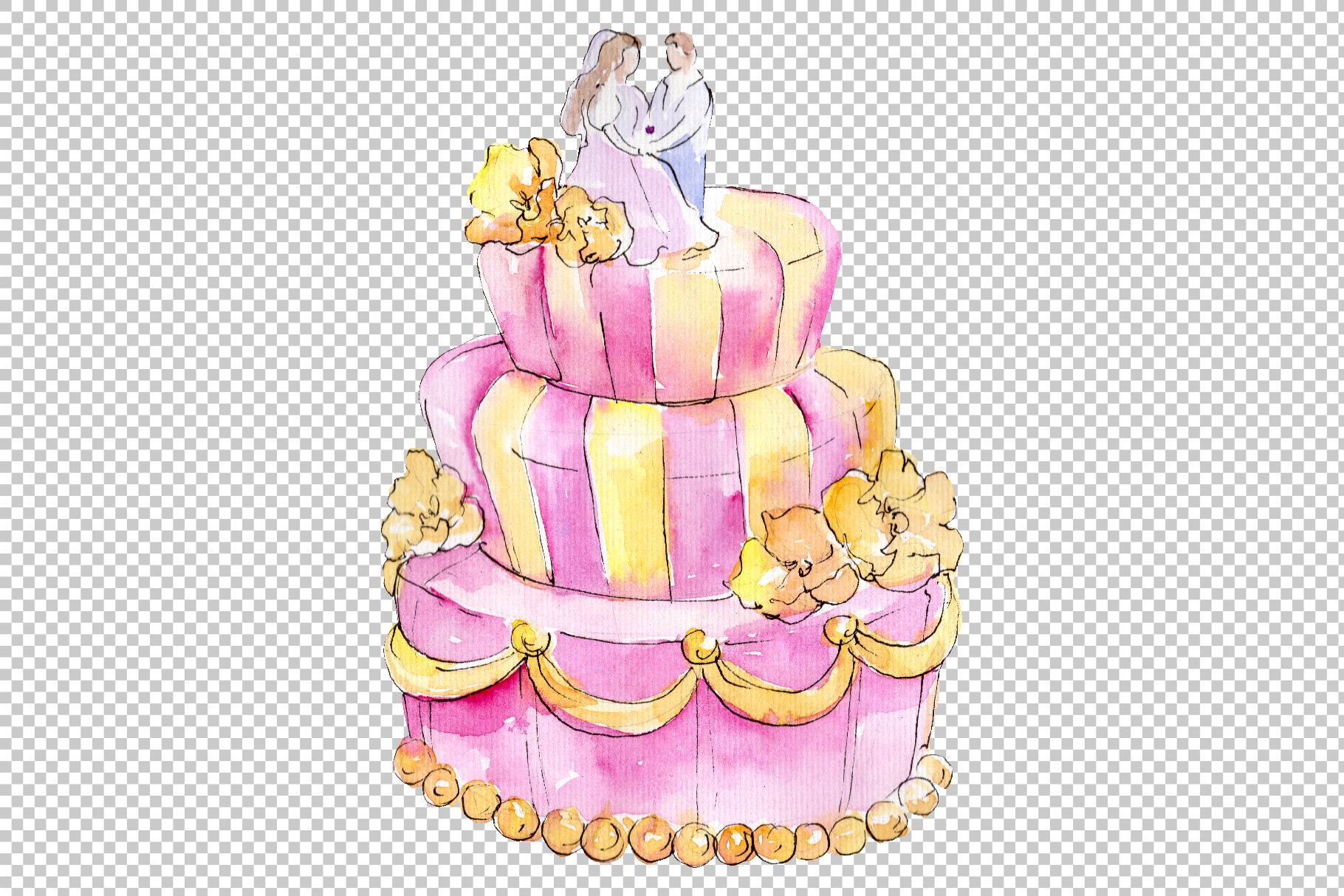 Dessert michel Watercolor png example image 4